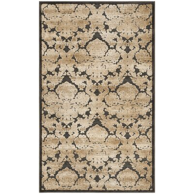 Martha Stewart Soft Anthracite / Anthracite Area Rug Rug Size: Rectangle 33 x 53