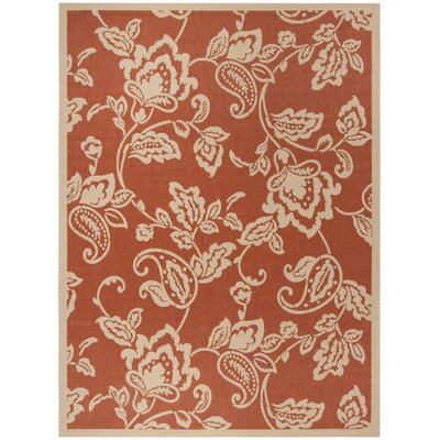 Berrima Terracotta/Beige Area Rug Rug Size: Rectangle 8 x 112
