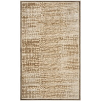 Martha Stewart Mouse / Cream Area Rug Rug Size: Rectangle 33 x 53