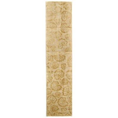 Geranium Leaf Hazelnut/Gold Area Rug Rug Size: Runner 23 x 10