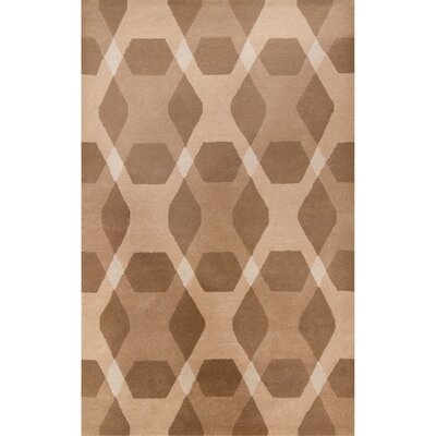 Diamond Hand-Loomed Beige Area Rug Rug Size: Rectangle 8 x 10