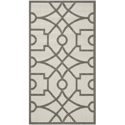 Martha Stewart Beige/Gray Area Rug Rug Size: Rectangle 27 x 5