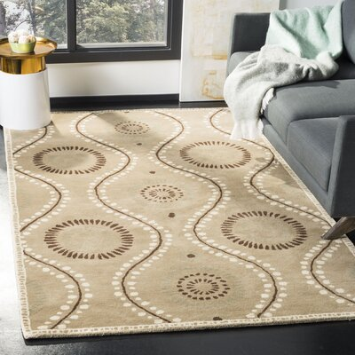 Martha Stewart Tufted / Hand Loomed Alpaca Area Rug Rug Size: Rectangle 5 x 8