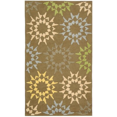 Rectangle: 26 x 43 - Block Quilt Opal Grey Floral Rug