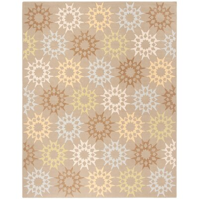 Rectangle: 79 x 99 - Block Quilt Opal Grey Floral Rug