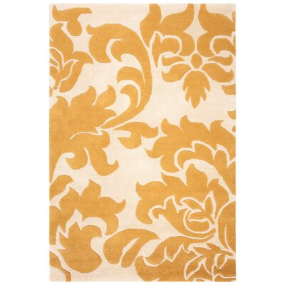 Barcelona Hand-Loomed Yellow/Beige Area Rug Rug Size: Rectangle 4 x 6