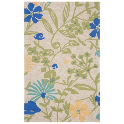 Hand-Hooked Bay Leaf Area Rug Rug Size: Rectangle 3 x 5