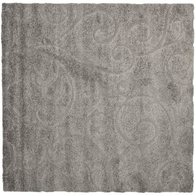 Biller Swirl Gray/Beige Area Rug Rug Size: Square 67
