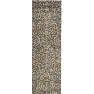 Gustav Light Gray/Beige Area Rug Rug Size: Runner 23 x 9