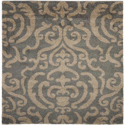 Gustav Light Gray/Beige Area Rug Rug Size: Square 67