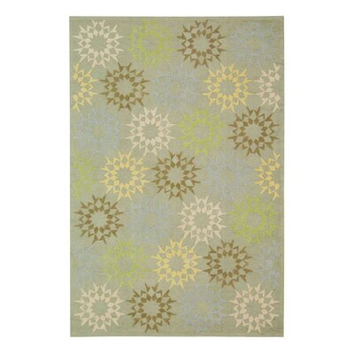Floral Block Quilt Opal Grey Rug Rug Size: 26 x 43