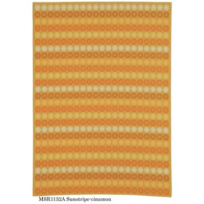 Rectangle: 91 x 101 - Sunstripe Cinnamon Transitional Rug