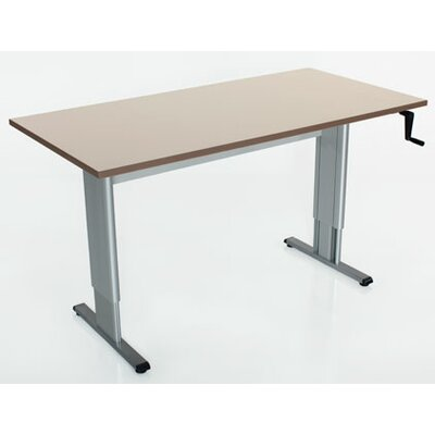 "Populas Accella Adjustable Activity/Computer Table - Size: 39"" H x 72"" W x 24"" D, Finish: Urban Walnut"
