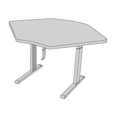 59 W Equity Height Adjustable Training Table Tabletop Finish: Digital Storm
