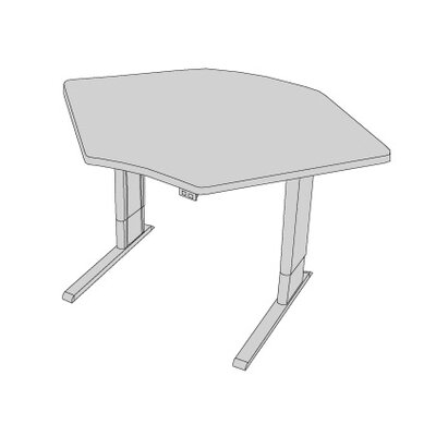 42 W Infinity Height Adjustable Training Table Tabletop Finish: Dove Gray