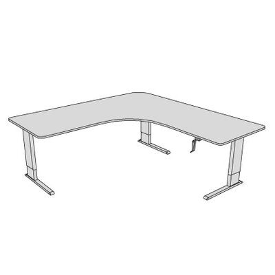 Accella Adjustable Perfect Corner Desk Finish: Dove Gray Product Picture 208