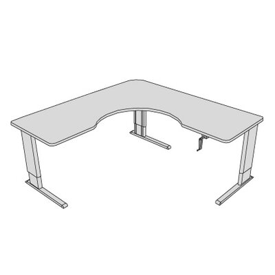 Accella Adjustable Wrap Corner Desk Finish: Dove Gray Product Picture 208