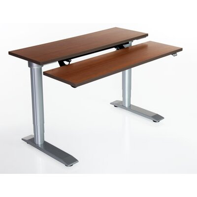 Vox Height Adjustable Training Table Size: 24 H x 48 W x 16 D, Tabletop Finish: Dove Gray