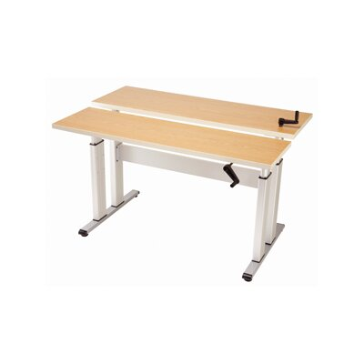 Equity Adjustable Bi-Level Training Table Finish: Digital Storm, Size: 38 H x 36 W x 30 D Product Picture 2226