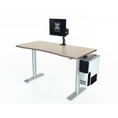 Vox Height Adjustable Training Table Tabletop Finish: Living Teak, Size: 24 H x 48 W x 24 D