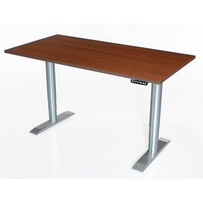 Vox Height Adjustable Training Table Size: 24 H x 60 W x 30 D, Tabletop Finish: Living Teak