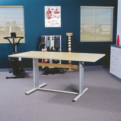 Accella Height Adjustable Training Table Size: 39 H x 48 W x 36 D, Tabletop Finish: Urban Walnut