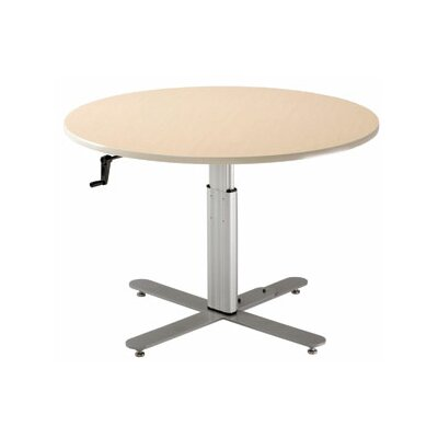 42 W Progression Height Adjustable Training Table Tabletop Finish: Living Teak