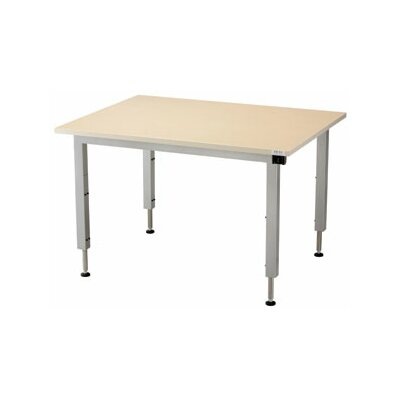 48 W Infinity Height Adjustable Training Table Size: 28 H x 72 W x 72 D, Tabletop Finish: Digital Storm