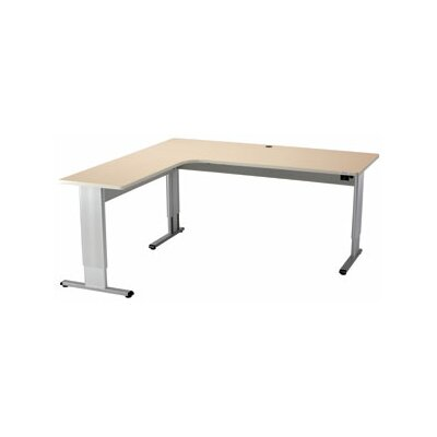 L Shape Standing Desk Bow Front Product Image 275
