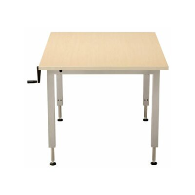 48 W Accella Universal Adjustable Training Table with Casters Size: 48 H x 48 W x 48 D, Tabletop Finish: Living Teak
