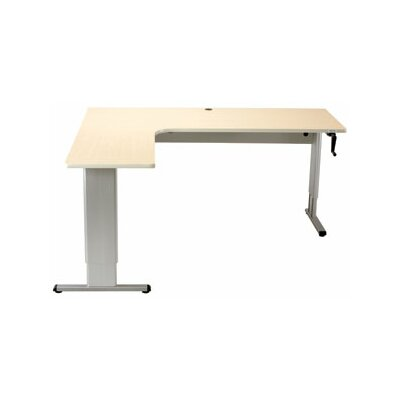 Accella Perfect Corner Standing Desk Finish: Digital Storm Product Picture 208