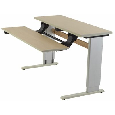 Infinity Height Adjustable Training Table Size: 24 H x 36 W x 16 D, Tabletop Finish: Living Teak