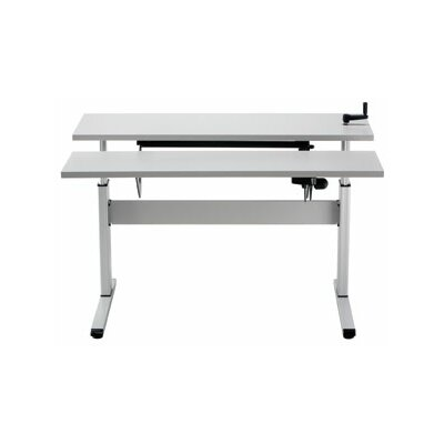 Equity Height Adjustable Training Table Size: 28 H x 72 W x 72 D, Tabletop Finish: Dove Gray