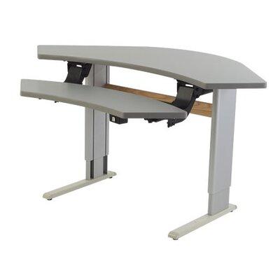 Populas Infinity Adjustable Corner Workstation Work Table - Finish: Dove Gray