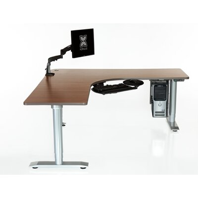 Vox Perfect Corner Standing Desk Finish: American Maple, Size: 72''L x 72''W x 28''D Product Image 217