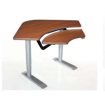 Vox Adjustable Corner Training Table Finish: Living Teak Product Picture 220