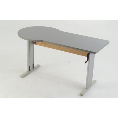 60 W Accella Height Adjustable Training Table Tabletop Finish: Living Teak