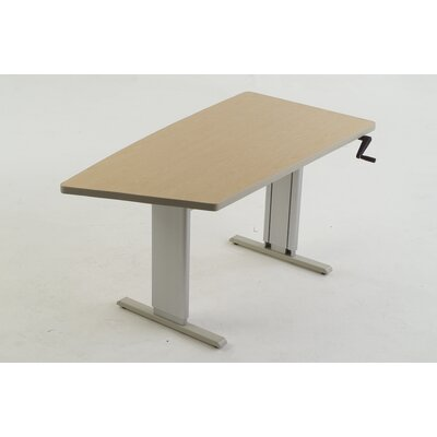 60 W Maciejewski Height Adjustable Training Table Tabletop Finish: Dove Gray