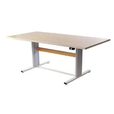 72 W Infinity Height Adjustable Training Table Tabletop Finish: Urban Walnut