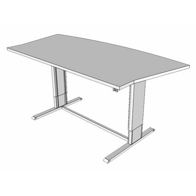72 W Infinity Height Adjustable Training Table Tabletop Finish: Living Teak