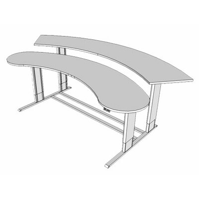 72 W Infinity Height Adjustable Computer table Tabletop Finish: Dove Gray