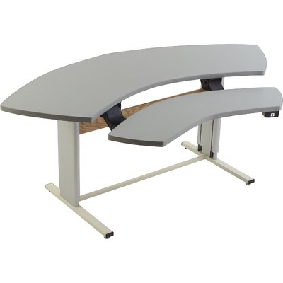 72 W Infinity Height Adjustable Computer Table Tabletop Finish: Fresh Canvas
