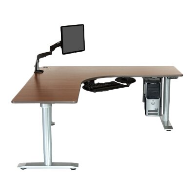 Vo L Shape Standing Desk Bow Front Product Photo 1047