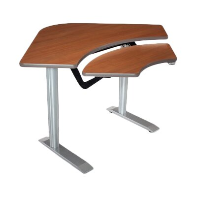 59 W Vox Height Adjustable Training Table Tabletop Finish: Dove Gray