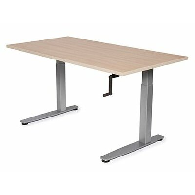 Equity Height Adjustable Training Table Tabletop Finish: Living Teak, Size: 38 H x 36 W x 30 D