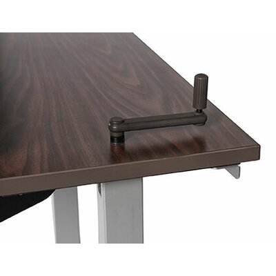 Equity Utility Height Adjustable Training Table Size: 38 H x 60 W x 30 D, Tabletop Finish: Urban Walnut