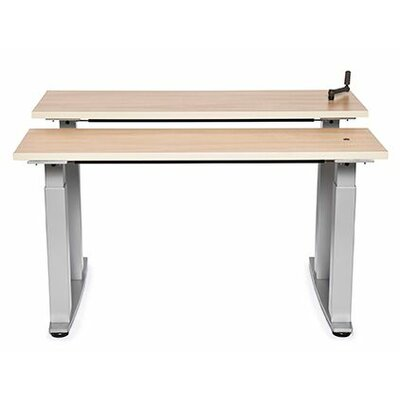 Equity Bi-Level Height Adjustable Computer Table Size: 38 H x 60 W x 30 D, Tabletop Finish: Living Teak