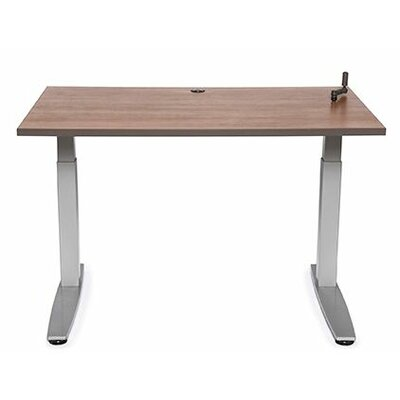 Equity Utility Height Adjustable Training Table Tabletop Finish: Living Teak, Size: 38 H x 60 W x 30 D