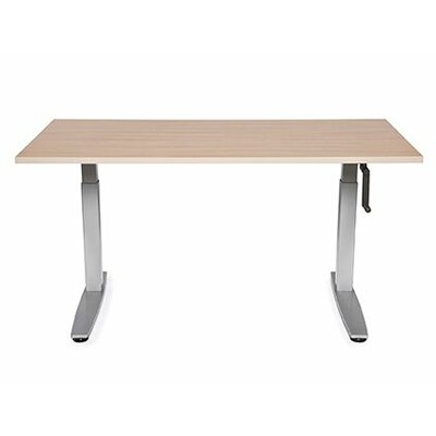 Equity Height Adjustable Training Table Size: 38 H x 60 W x 24 D, Tabletop Finish: American Maple