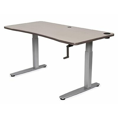 Equity Height Adjustable Training Table Size: 38 H x 48 W x 30 D, Tabletop Finish: Urban Walnut
